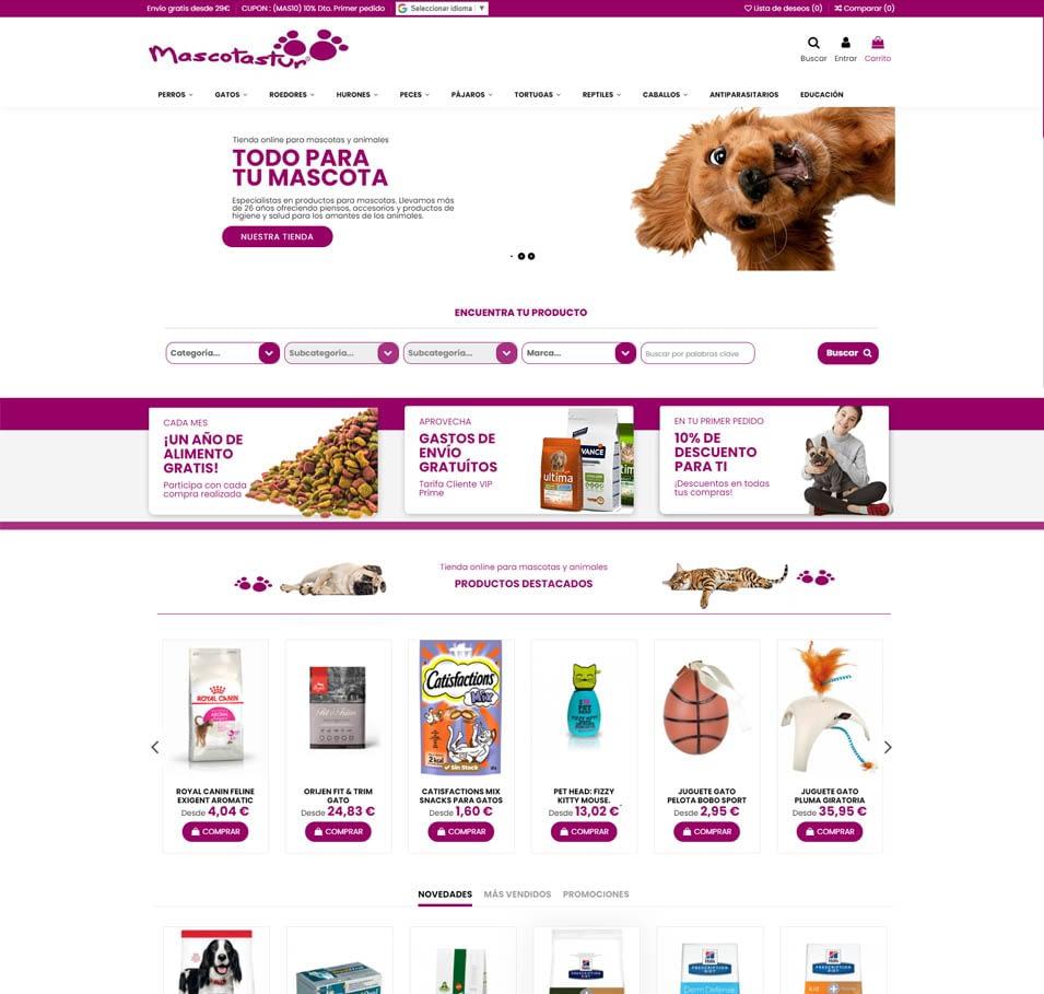 Como diseñar una tienda online para mascotas. Prisma Imagen y Diseño.