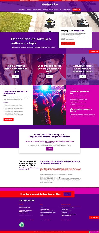 Diseño web para empresa de actividades al aire libre. Diseño de páginas web en Gijón. Prisma ID - 1