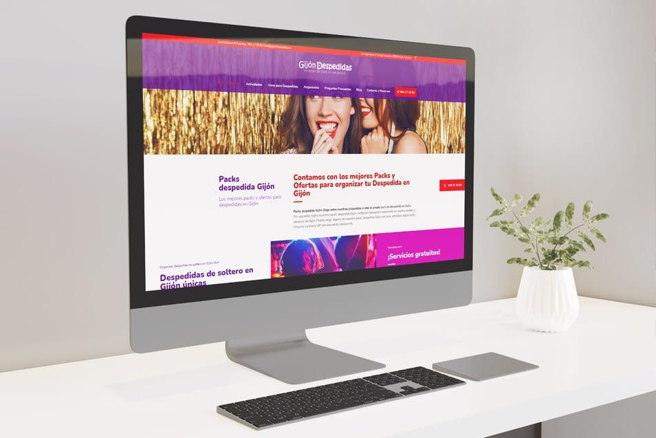 Diseño web para empresa de actividades al aire libre. Diseño de páginas web en Gijón. Prisma ID