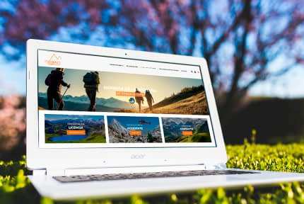 licencia montaña Asturias online diseñado por PRISMA ID