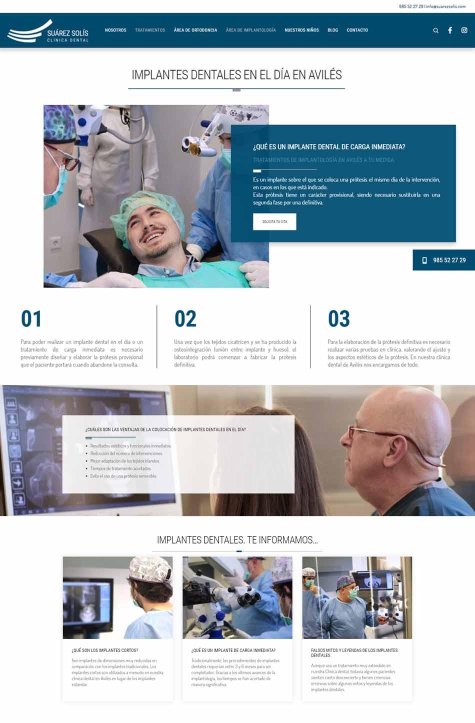 Nueva web de la Clínica Suárez Solís - Empresa de diseño de páginas web en Asturias - SUÁREZ SOLÍS