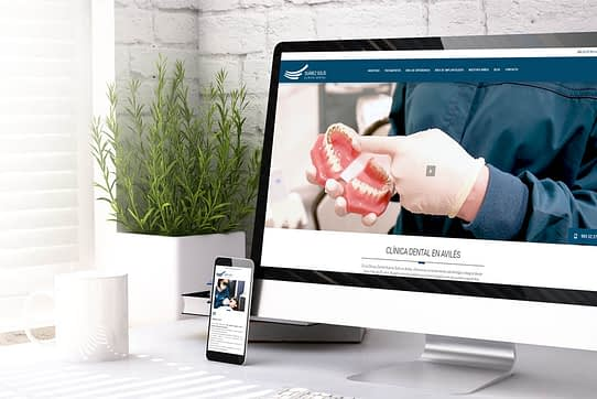 Nueva web de la Clínica Suárez Solís - Empresa de diseño de páginas web en Asturias - SUÁREZ SOLÍS - Prismadent