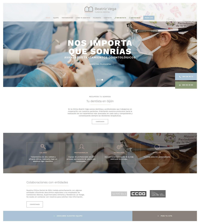 Diseño de páginas web para clínicas dentales