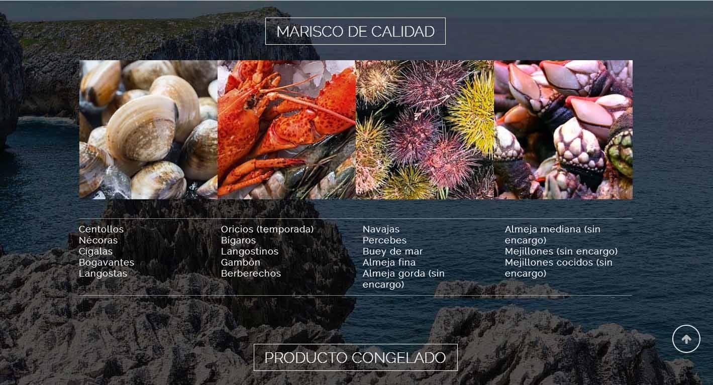 diseño de páginas web en Asturias: pescados gutierrez