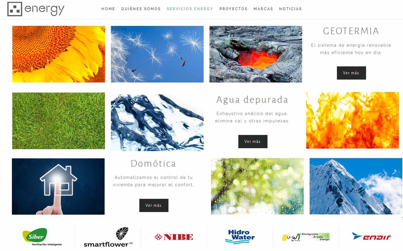 diseño web en Asturias para consultoría energética: PRISMA IMAGEN Y DISEÑO